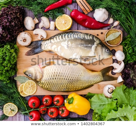 Raw carp fillets Stock photo © Digifoodstock