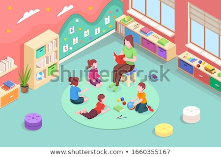 vector isometric concept for reading book stock photo © curiosity