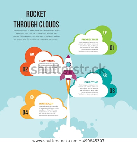 Cloud - Vector Infographic template Stock photo © orson