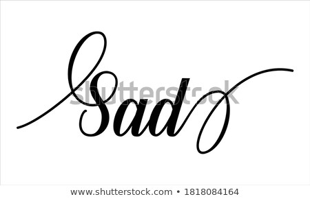 Lata smutek kaligrafia odizolowany biały Zdjęcia stock © Anna_leni