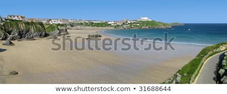 Stok fotoğraf: Muhteşem · batı · plaj · panorama · cornwall · gökyüzü