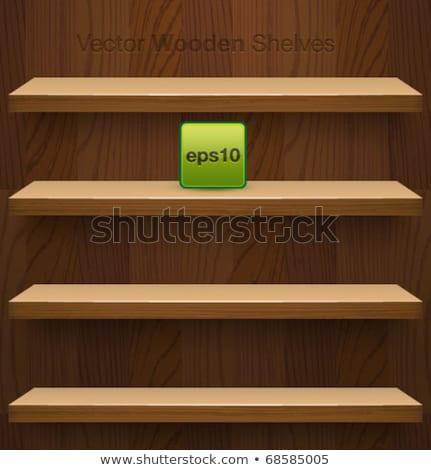 Vector houten realistisch boekenplank product licht Stockfoto © orson