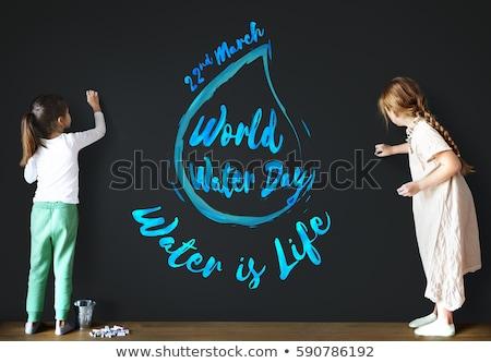 22 mundo água dia calendário cartão Foto stock © Olena