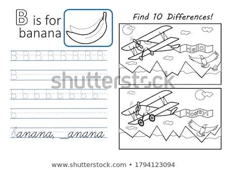 spot the difference letters b stock photo © olena