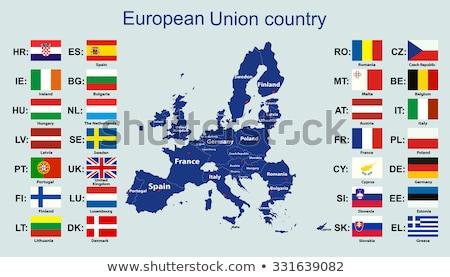 Stock photo: European Union Map and Flag
