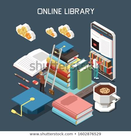 Tutorial livro título 3D coluna Foto stock © tashatuvango