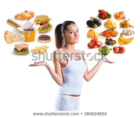 Junk Food Scale Stock photo © Lightsource
