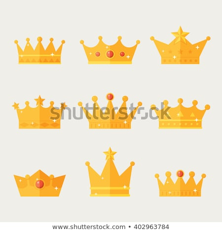 queen, king in a flat style Stock photo © Olena