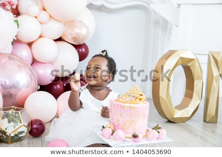 Baby first birthday smile Stock photo © IS2