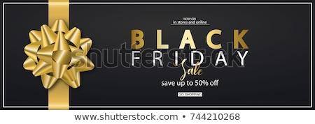black · friday · verkoop · 3D · teken · ontwerp · brieven - stockfoto © krisdog