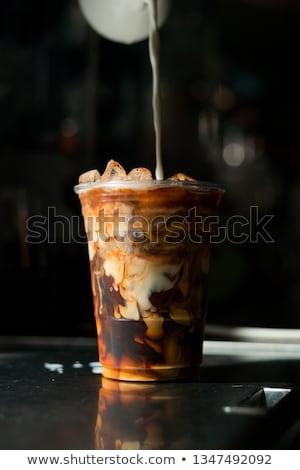 morning coffee in plastic cup stock photo © stevanovicigor