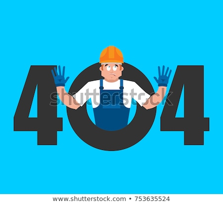Error 404 Builder surprise. Page not found template for web site Stock photo © popaukropa