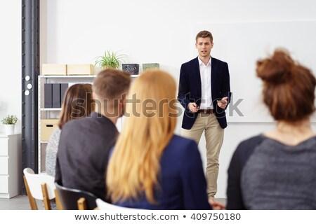 Prezentacji biuro kobieta biznesmen pracy Zdjęcia stock © IS2