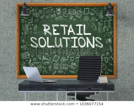Solution for E-Commerce - Hand Drawn on Green Chalkboard. Stock photo © tashatuvango
