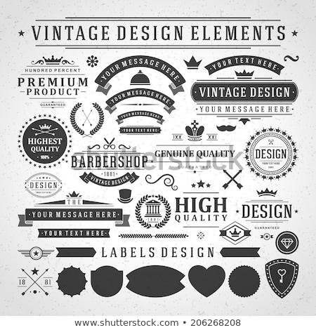 Set of vintage emblems Stock photo © Genestro
