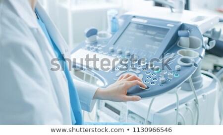 femminile · ultrasuoni · medico · asian · giovani · scanner - foto d'archivio © rastudio