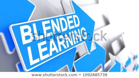 study   text on blue pointer 3d stock photo © tashatuvango