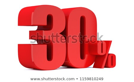 Red 30% discount sign isolated on white background. Stock photo © lenapix