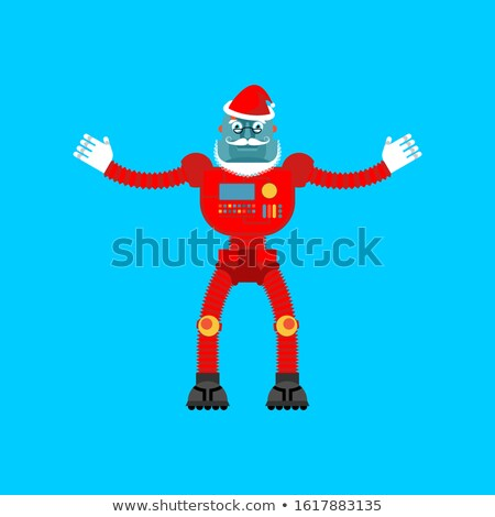Robot Santa Claus. Mechanical cyborg grandfather for christmas.  Stock photo © popaukropa
