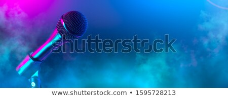 Stock photo: Audio microphone in karaoke bar
