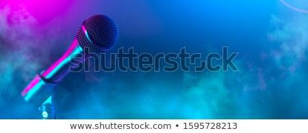 ses · mikrofon · karaoke · bar · bokeh - stok fotoğraf © stevanovicigor
