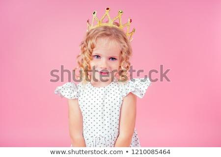 Gyerek lány szépség királynő illusztráció fiatal Stock fotó © lenm
