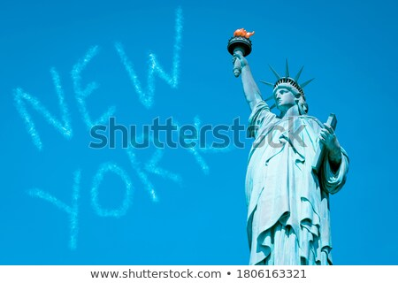 Statue of Liberty, special photographic processing. Stock photo © vwalakte