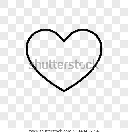 простой черный сердце прозрачный красивой тень Сток-фото © romvo