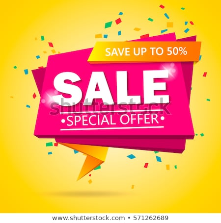 Super sale poster vector illustration stock photo © studioworkstock