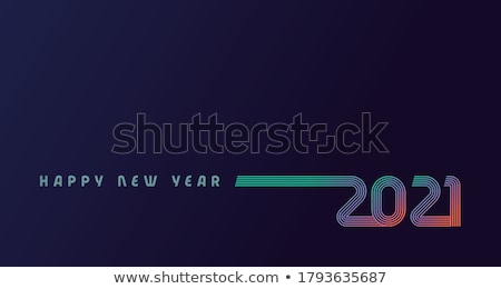 New Year Party Celebration Poster Template Illustration with Typography Design,and Firework on Shiny Stock photo © articular