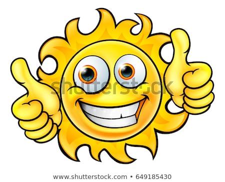 glimlachend · zomer · zon · mascotte · zonnebril - stockfoto © hittoon