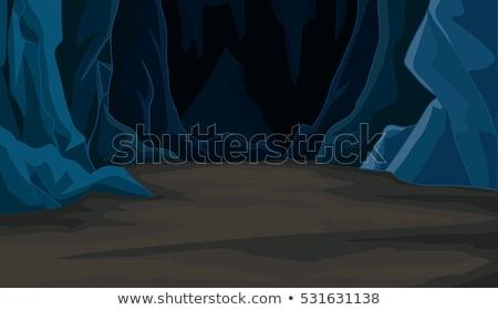 Cartoon · подземных · пещере · Драгоценные · камни · природы - Сток-фото © bluering