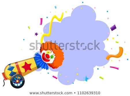 A Colourful Circus Clown Themplate Stock photo © bluering