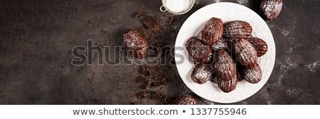 Domowej roboty czekolady cookie posiekane orzechy Zdjęcia stock © Melnyk