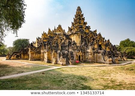 修道院 · ミャンマー · 古代 · 市 · 旅行 · アーキテクチャ - ストックフォト © romitasromala