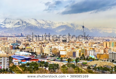 Tehran cityscape at sunset, Iran Stock photo © joyr