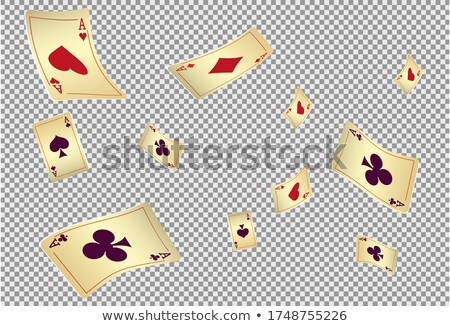 Valósághű zuhan kaszinó zsetonok póker kártyák illusztráció Stock fotó © articular