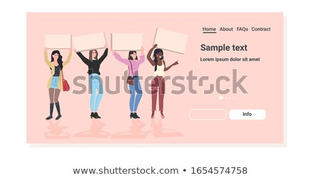 Woman protesting with a poster Stock photo © studiostoks