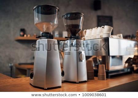 Elektryczne kawy młyn pop art retro Zdjęcia stock © studiostoks