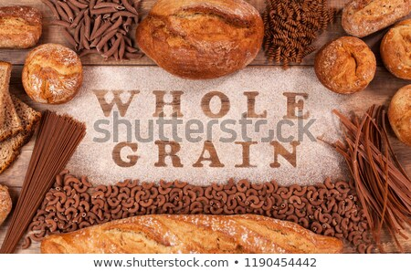 Bakery products and pasta made of whole grains flour Stock photo © lightkeeper