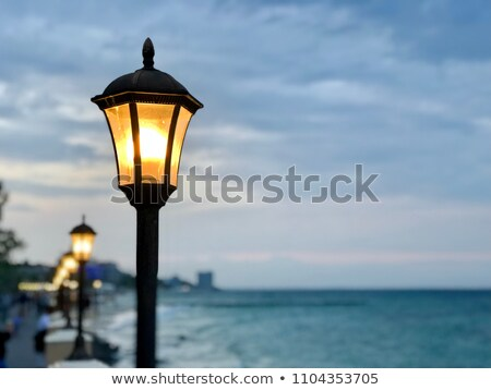 Street lighting with the sea in the background Stock photo © boggy