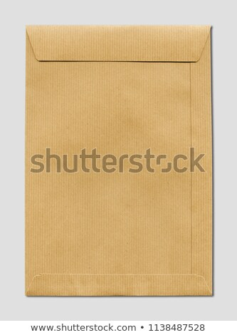 Large A4 brown paper enveloppe mockup template Stock photo © daboost