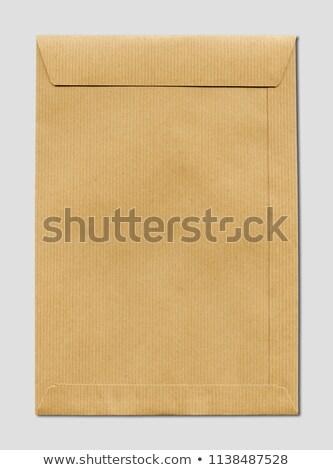 Nagy barna papír vázlat sablon izolált szürke Stock fotó © daboost