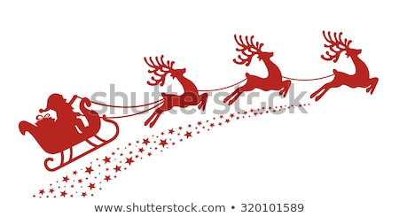 Vrolijk christmas slee rendier illustratie Stockfoto © bluering