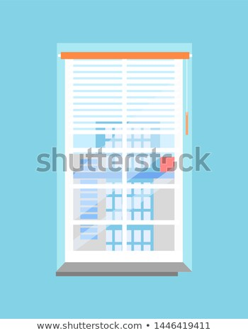 Clean Office Window with Jalousies and Windowsill Stock photo © robuart