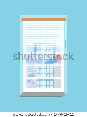 Temizlemek ofis pencere pencere eşiği plastik muhteşem Stok fotoğraf © robuart