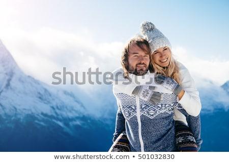 Casal amor caminhada montanhas hills Foto stock © ruslanshramko