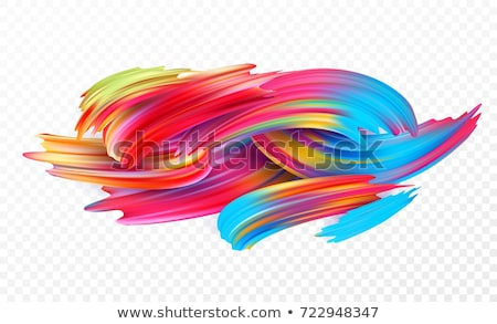 Abstract Brushstroke Vector. Blue. Acrylic Paint Shape. Illustration Stock photo © pikepicture