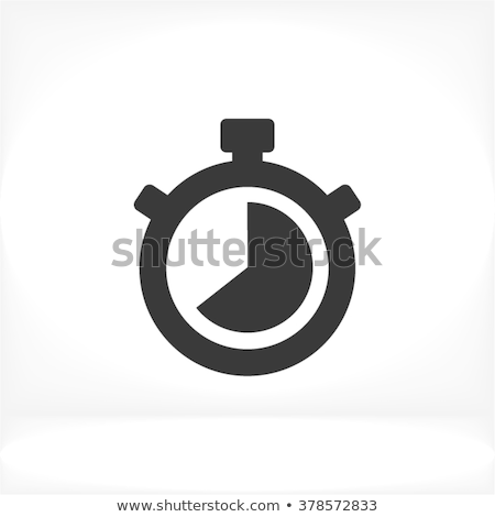 stopperóra · ikon · fehér · iroda · kéz · óra - stock fotó © smoki