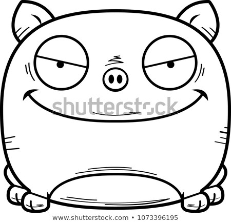 gonosz · kicsi · piranha · rajz · illusztráció · néz - stock fotó © cthoman